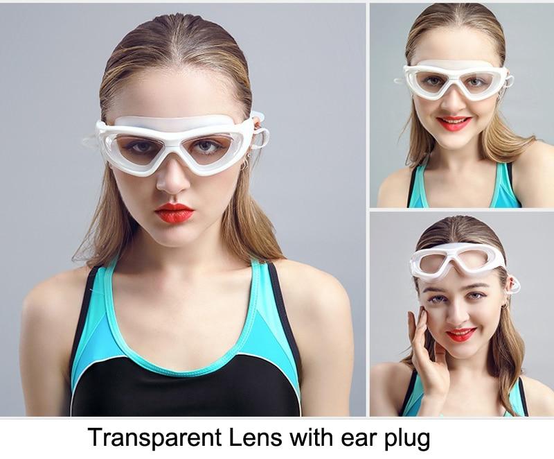 Professional Diopter Myopia Silicone Swimming Goggles Anti-Fog Waterproof With Earplugs 11