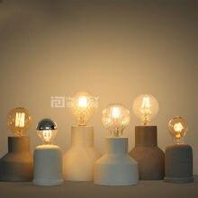 Bombillas Edison industriales clásicas, lámpara de mesa de cemento E27 Led para Loft, Bar, escritorio, dormitorio, Corridior, lámpara de pie para escritorio