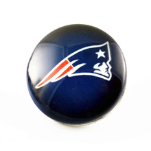 New Arrive Football Sports Team England Patrionts 18mm Snap Button Glass Interchangeable Charms For Jewelry