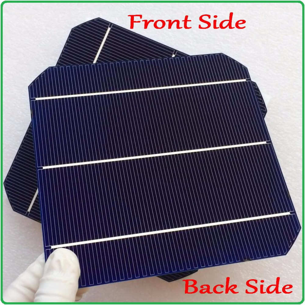 Newest solar panel cell double-side Max 6.4W/pc Monocrystalline Mono solar cell 6x6 with enough 40m tab wire and 5m busbar wire