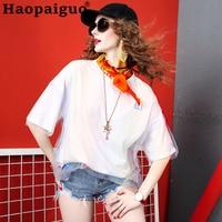 100% Cotton Harujuku Kawaii Tops T Shirt Women Korean Style Fashion Tshirt Ulzzang White T Shirt Letter Printed B Letter Tees