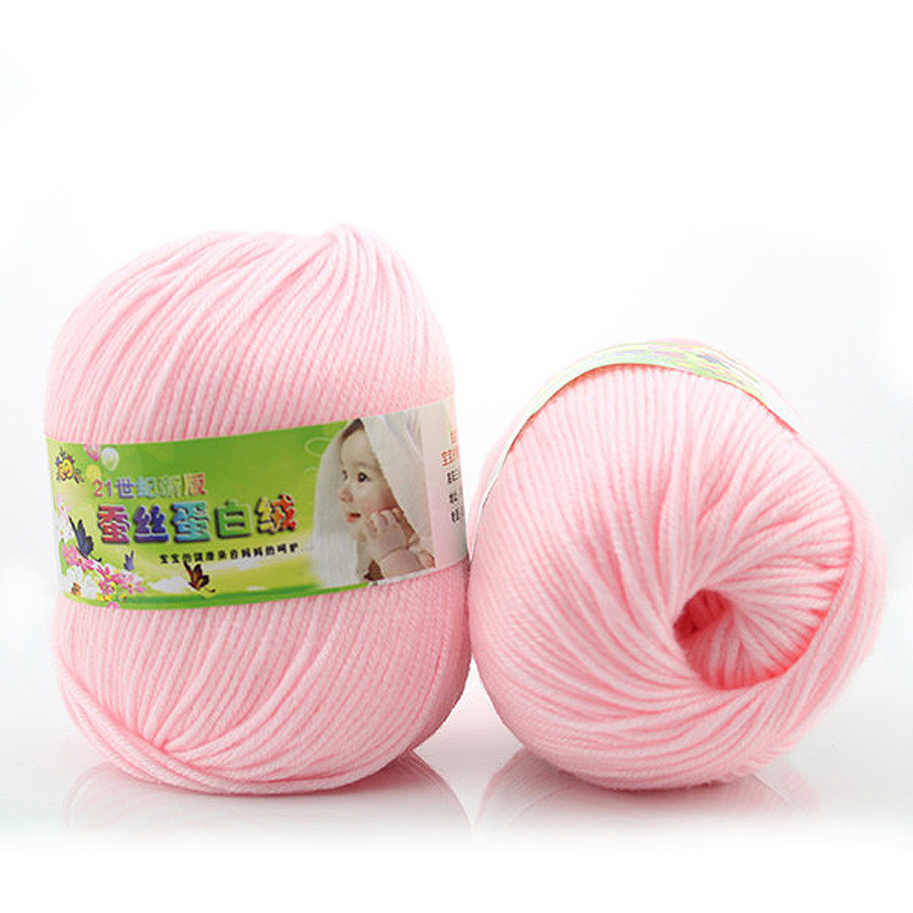 8Balls 50g/ball New Cashmere Cotton Yarn for Hand Knitting Soft Silk Yarn Crochet Sweater Blanket Hat Scarf Socks DIY Needlework