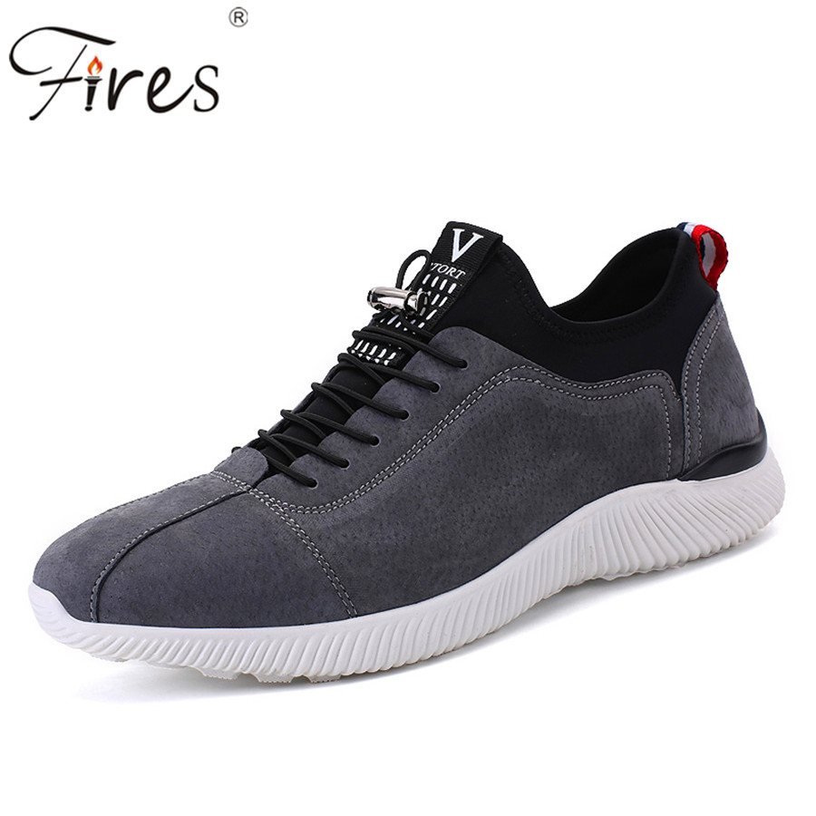 ФОТО 2017 Leather Sports Sneakers For Man Outdoor Spring Running Shoes Brand high quality Trend Training Shoes Men Zapatillas Shoes