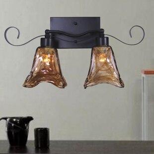 American double head wall lamp European retro bedroom bedside balcony aisle lamp tea color glass iron mystery wall lamp