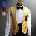 HOT 2016 New suit vest men's clothing performance wear vest adult paillette vest stage costumes nightclub sequined vest