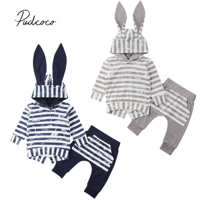 fe8242110738 2018 Brand New Autumn Winter Toddler Baby Boy Girls 3D Bunny Ears ...