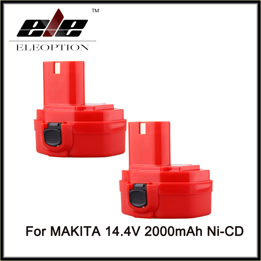 Eleoption 2x NEW 14.4V NI-CD 2000MAH 2000mah POWER TOOL BATTERY for MAKITA 14.4 VOLT Cordless Drill