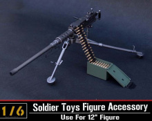 1/6 scale model US army Browning M2 machine gun,Cal. .50, M2HB,flexible weapon toys for soldier action figure accesssories