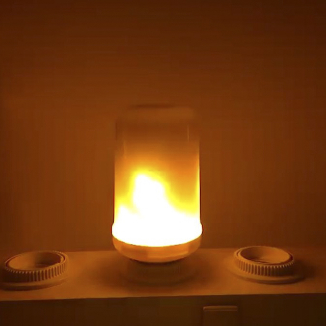 2017 New E27 E26 2835SMD LED lamp Flame Effect Fire Light Bulbs 7W Flickering Emulation flame Lights 1900K-2200K AC85-265V
