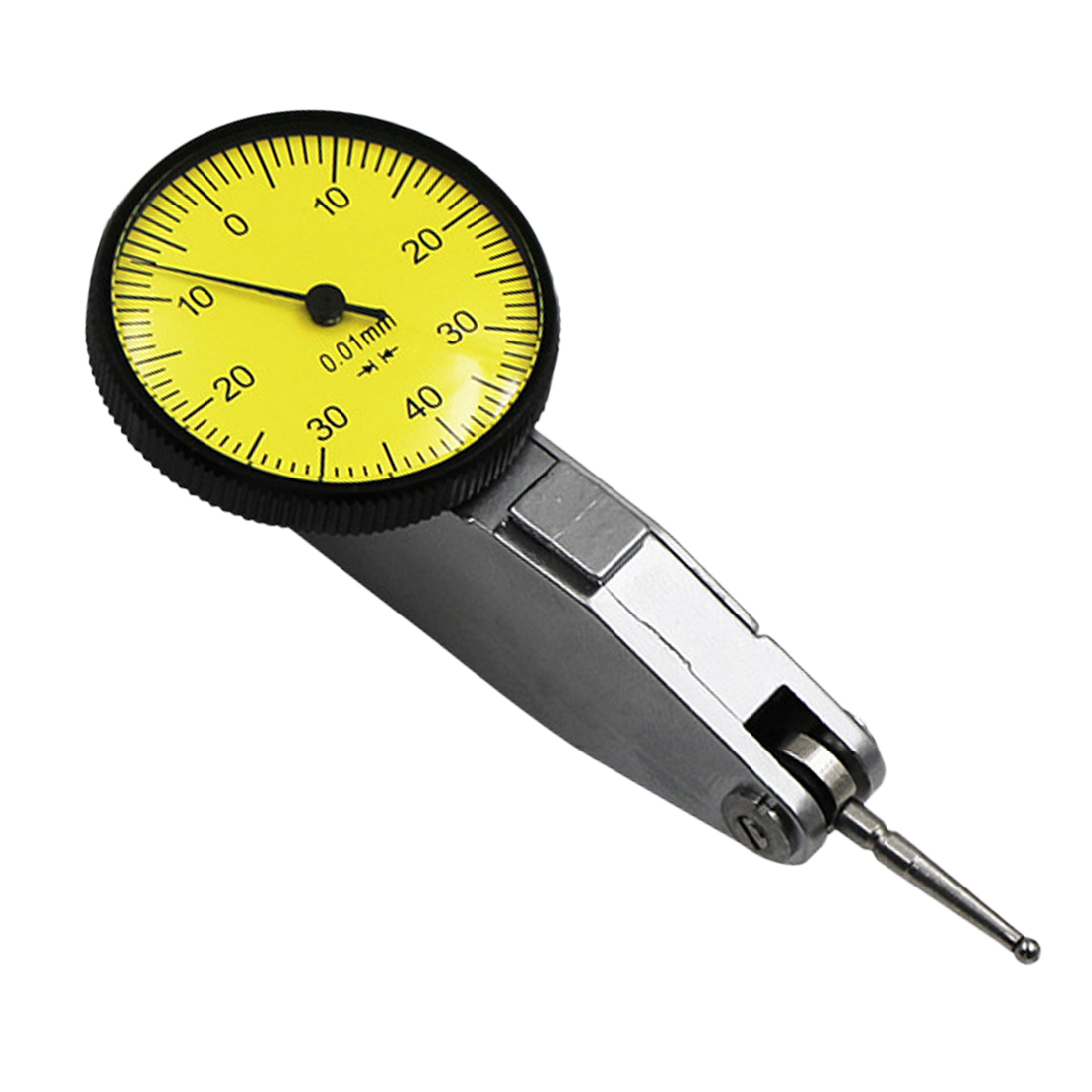 1pcs Dial Test Indicator 0-0.8mm Accurate 0.01mm Dial Indicator Dial Gauge Test Waterproof Indicator Measuring Instrument Tool