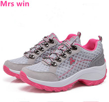 2017 summer women sports shoes breathable mesh Breathable non-slip outdoor running shoes women's sneakers zapatillas mujer