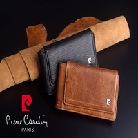 Pierre Cardin Retro Genuine Leather Case For Apple iPhone XS Max Phone Pouch For iPhone XR Hanging Style Belt Bag Free Shipping