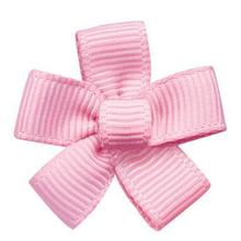 Free shipping 200pcs Polyester Ribbon Flower for Garment Accessories Light pink