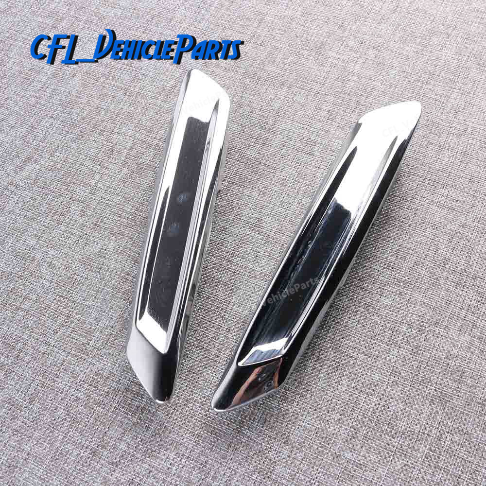 Chrome Exterior Front Fender Trim Molding Left Or Right 51137336645 51137336646 For <font><b>BMW</b></font> <font><b>F10</b></font> LCI 2013 2014 2015 2016 Sedan Only image