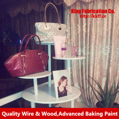 American wrought iron clothes rack bag display clothing store circular flow racks