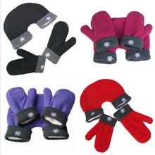 3pcs/set Couple Gloves Polar Fleece Lovers Winter Thicken Warm Gloves 4 Colors Romantic Couples Mittens Christmas Gift