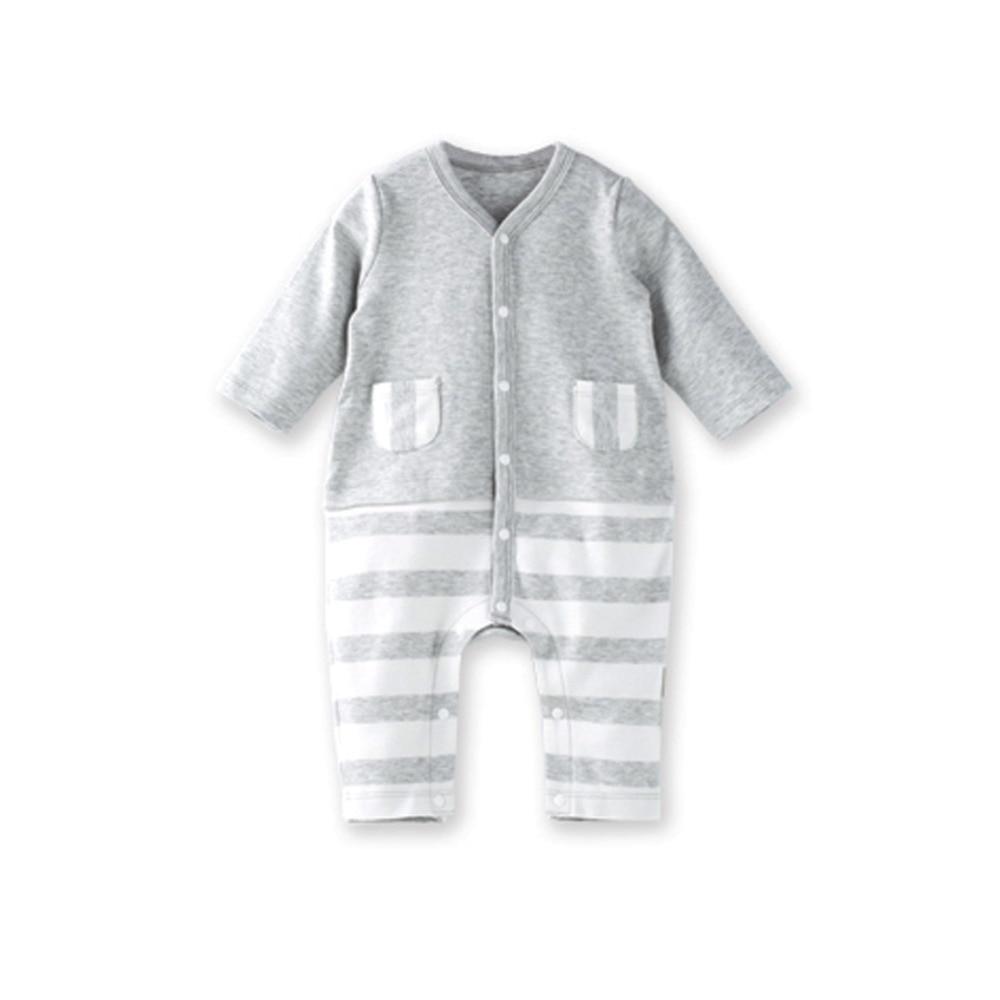 b1d4809af Newborn Baby Boy Clothes Summer Rompers 0 12 Months Stripe Boys ...