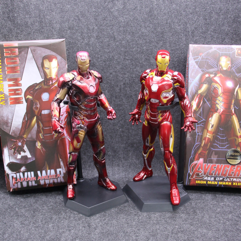 Crazy Toys Marvel Avengers IronMan Mark XLV MK45 1:6 XLIII Limit Battle Paint PVC Collectible Iron Man Figure Model Toys crazy toys marvel amazing spiderman avengers pvc collectible figure model toys