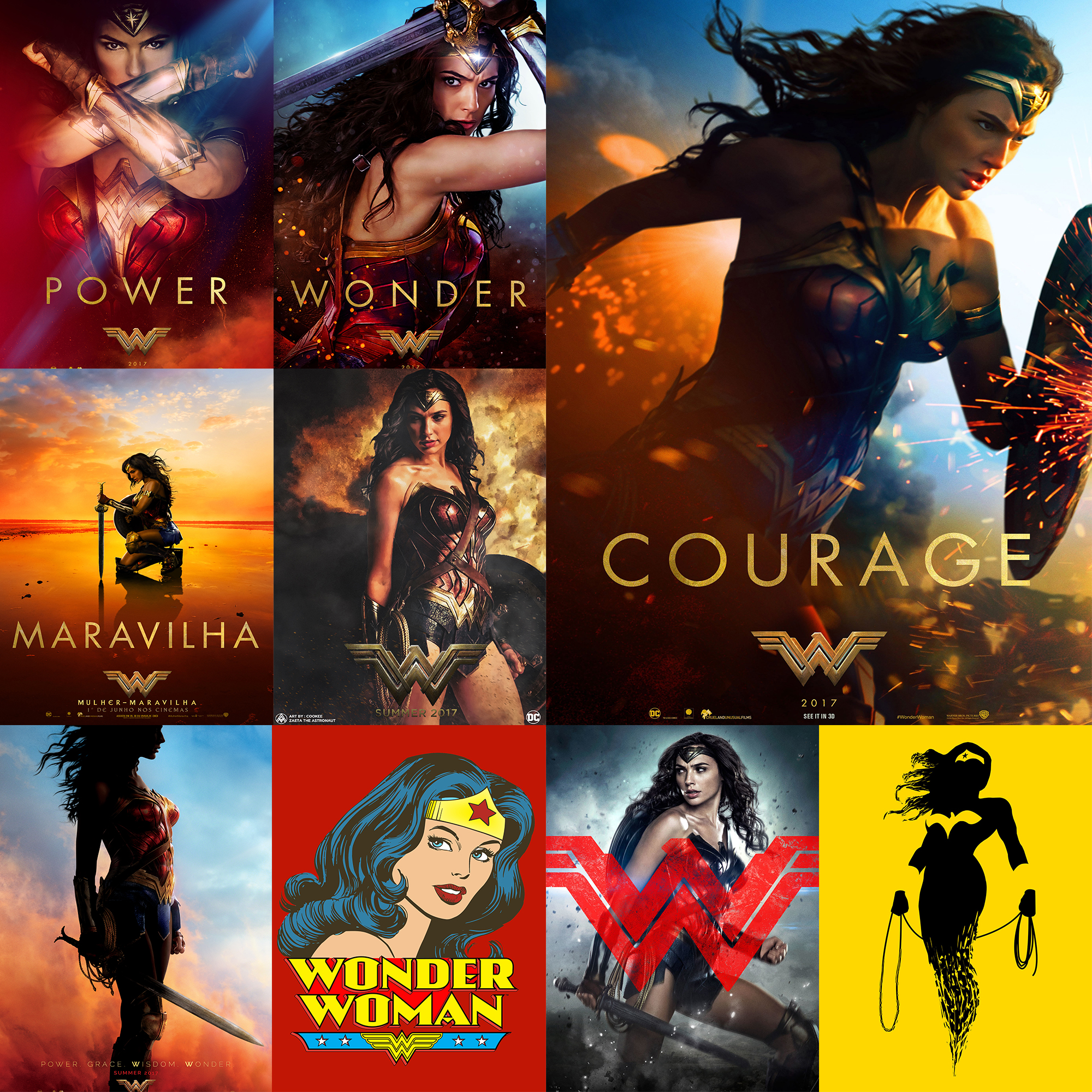 Wonder Women Posters Wall Stickers Home Decoration High Quality White Coated Paper
