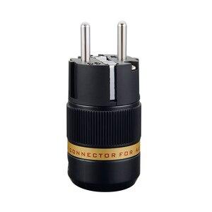 Image 2 - をビボル VE501R VF501R 純銅ロジウムメッキ EU プラグタイプ Schuko 電源プラグ iec メスコネクタ