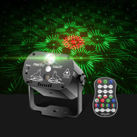Mini USB LED Night Light DJ Disco Party Stage Lighting Effect Voice Control Laser Projector Light for Wedding Birthday