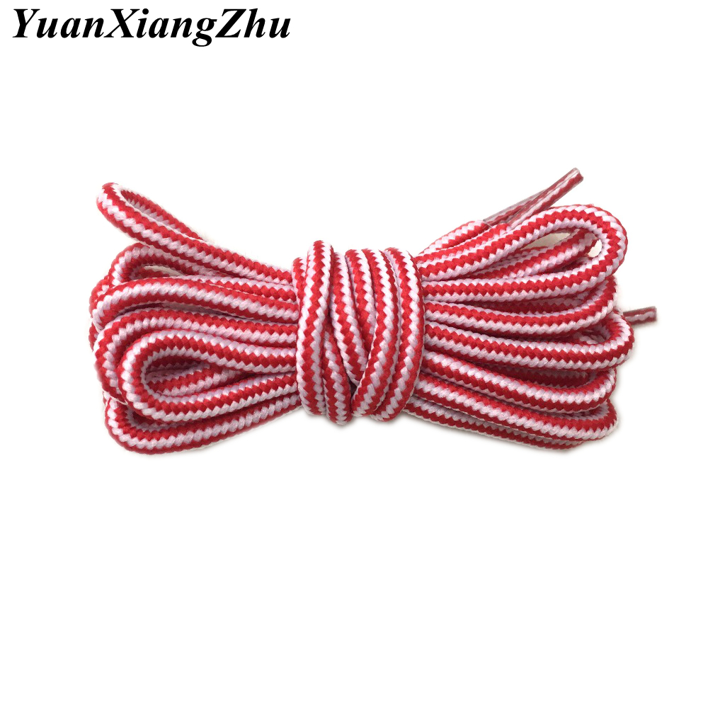 New Outdoor sport casual stripe round shoelaces hiking slip rope shoe laces sneakers shoelaces skate boot shoe laces strings TW1 цена