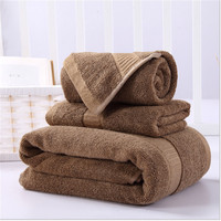 3 Pieces Bamboo Fiber Towel Set 700GSM Solid Color Bath Towel For Adults Face Towel Hand Towel High Absorbent