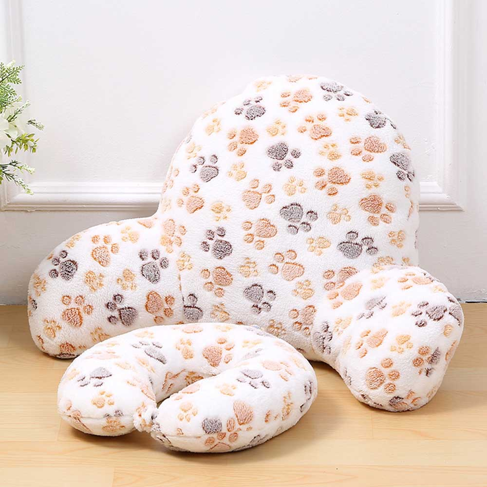 Pillow Back Cushion With Arm Support Bed Reading Rest Waist Chair Car Seat Sofa Rest Lumbar Cushion Cotton Linen Plush Fabric