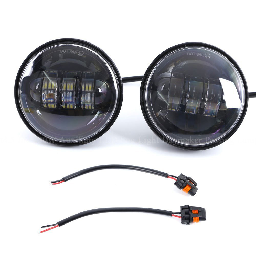 4.5 Inch 30W Auxiliary LED Fog Light Daymaker Passing Lamp for Harley Davidson Motorcycle (1)