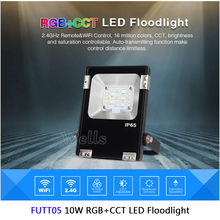 Milight FUTT02 10W/20W/30W/50W LED Flood light IP65 Waterproof AC86-265V RGB+CCT Outdoor Lighting For Garden
