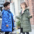 High quality 90% duck down 2016 Children's down Jackets coats Parkas real fur Big boy Outerwears thick feather winter -40degree