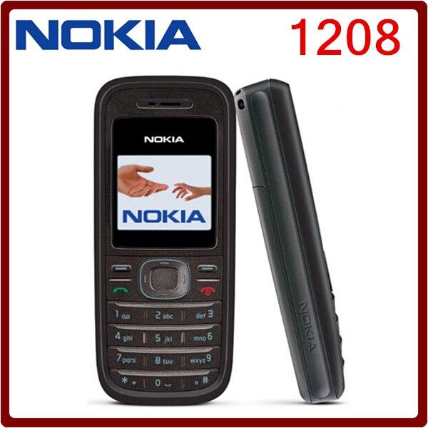 Цена за Оригинальный Мобильный Nokia 1208 Дешевые телефоны GSM открыл телефон Бесплатная доставка