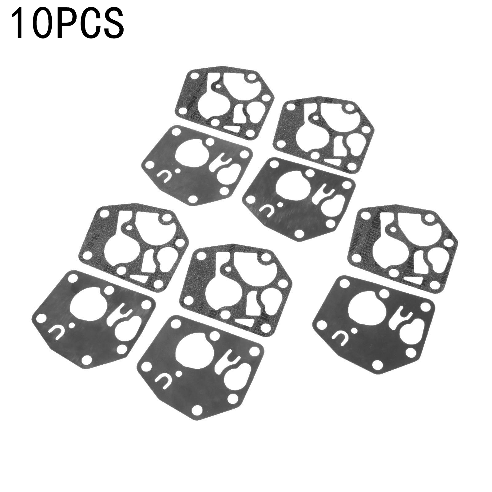 DRELD 10Pcs Replacement Carburetor Diaphram Kit Lawn Mower Lawnmower Carb Gasket for <font><b>Briggs</b></font> & Stratton 495770 <font><b>795083</b></font> 5083D 7721 image