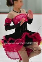 Kids Figure Skating Dress Girls Figure Skating Dress Children Competition Figure Skating Dresses Free Shipping G32