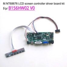 For B156HW02 V0 LVDS 15.6 inch laptop LCD screen WLED 60Hz 40 pin 1920*1080 (HDMI+DVI+VGA)M.NT68676 controller driver board kit