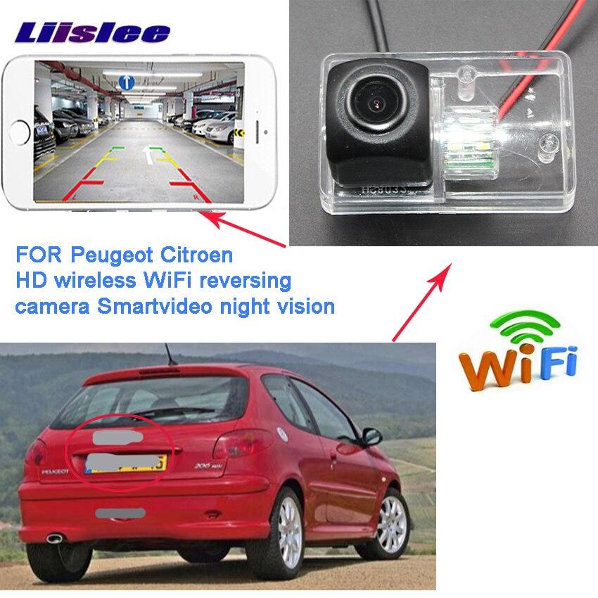 LiisLee caméra de recul sans fil pour Peugeot 206 207 306 307 berline 308 406 407 5008 partenaire Tepee voiture Vision Assistance au stationnement