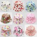 2016 Useful Fashion 3pcs Retail Baby Summer Hat Bucket Sun Hat for Girls Boys Kids Children Bucket Cap with Various Designs