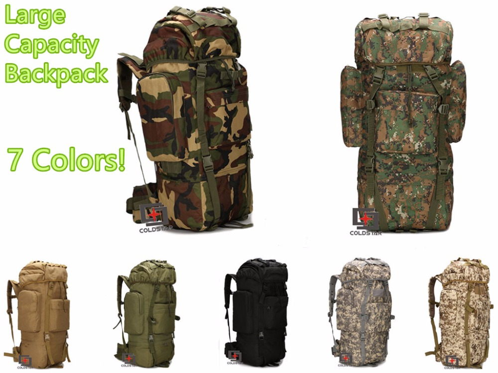 New Arrival 65L Large Capacity Mountaineering Bag High quality Outdoor Backpack Waterproof Travel Hiking Camping Tactical Bags
