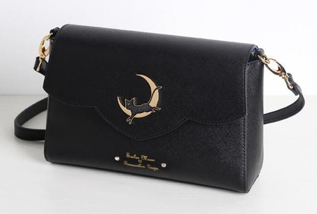 Bolso de mano de metal con logo de gato y luna, 1 unidad, anime, sailor moon, luna, Mensaje, bolso de mano de día