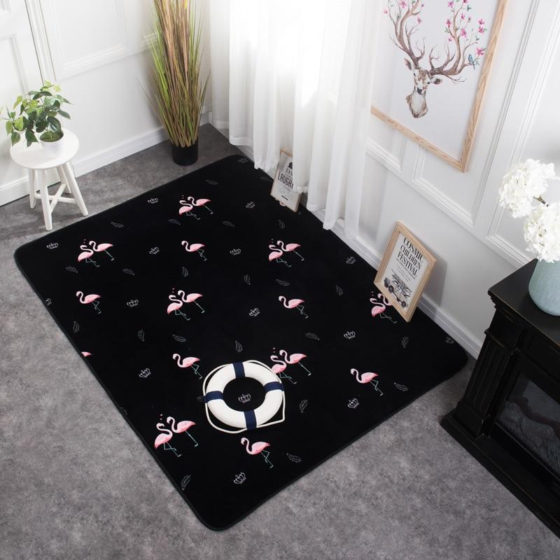 Nordique tendance marque noir et blanc tapis simple moderne salon table basse canapé tapis chambre chevet rectangulaire tapis