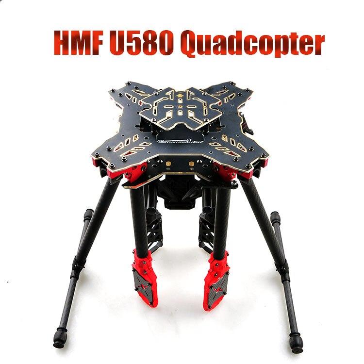 F11066 HMF U580 Тотем серии RC Quadcopter Рамка 4 мост Складная стойка углерода зонтик FPV посадка Шестерни карданный крепление труба + FS