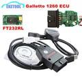 Professional Galletto 1260 FT232RL Auto ECU Chip Tuning Interface OBD2 EOBD ECU Flasher Diagnosis Connector 1260 OBDII Flasher