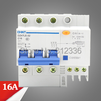 ФОТО Free Shipping Two years Warranty  DZ47LE-32 C16 3P 16A 3 pole ELCB RCD earth leakage circuit breaker  residual current