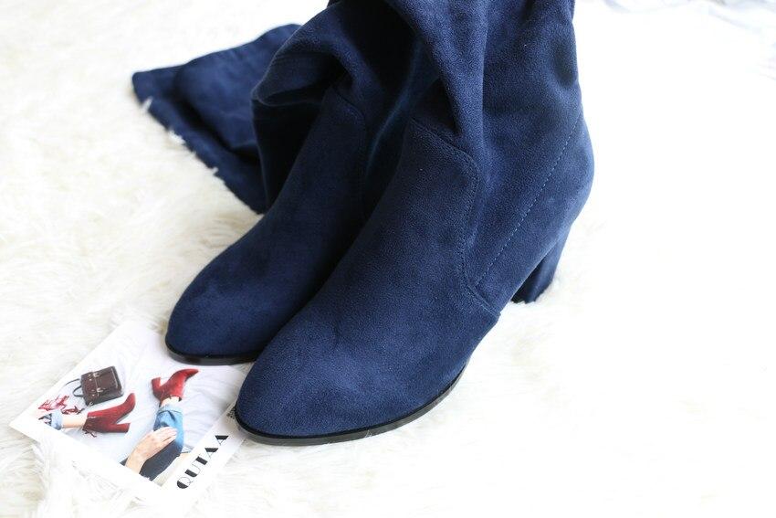 Women Over The Knee High Heel Winter Sexy Boots 46