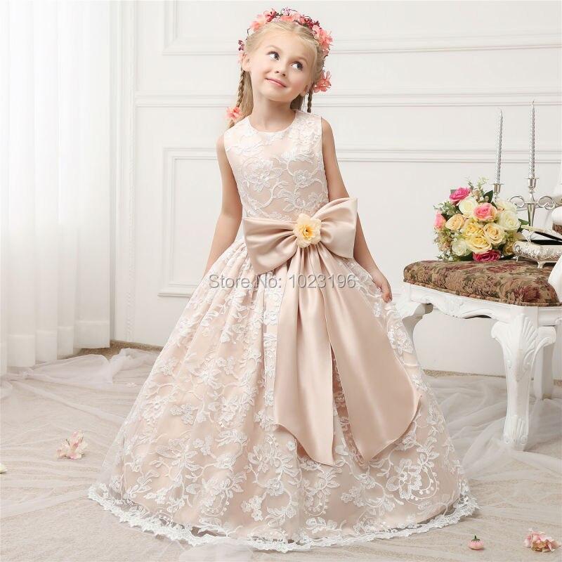 30a44ff09f7 2017 Hot Lovely Cap Sleeves Flower Girl Dresses Floor Length Pretty ...