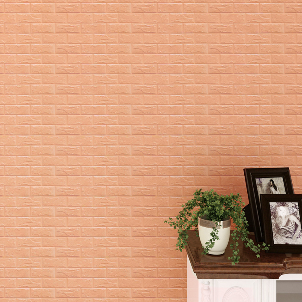 Simple Pure PE Foam 3D Wall Stickers Safty Home Decor Wallpaper DIY Wall Decor Brick Living Room Kids Bedroom Decorative Sticker