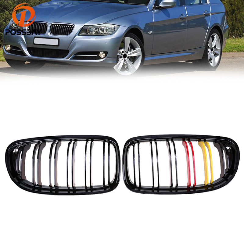 POSSBAY Front Gloss Black Red Yellow Kidney Grilles for BMW 3-Series E90 320xd/323i/325d Sedan 2008-2011 Facelift Center GrillsPOSSBAY Front Gloss Black Red Yellow Kidney Grilles for BMW 3-Series E90 320xd/323i/325d Sedan 2008-2011 Facelift Center Grills