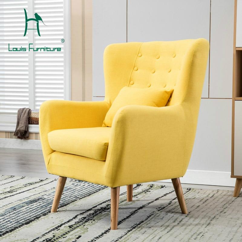 Living Room Furniture St Louis: Louis Fashion Living Room Chairs Single Cloth Sofa Nordic