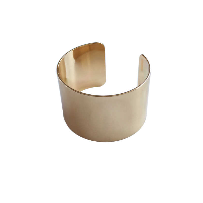 Metallic fashionable temperament bracelet aureate argent bracelet with smooth and bright Bangle Party Fashion Jewelry