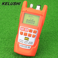 KELUSHI FTTH Fiber Optical Power Meter and Visual Fault Locator All IN ONE 70 To +10dBm 30mW 30km